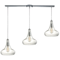 ELK 10422/3L Orbital 3 Light 5 inch Polished Chrome Mini Pendant Ceiling Light in Linear with Recessed Adapter, Linear