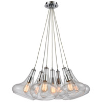 ELK 10422/7SR Orbital 7 Light 28 inch Polished Chrome Pendant Ceiling Light in Round Canopy
