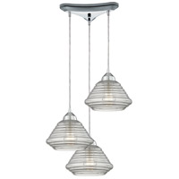 Orbital 3 Light 10 inch Polished Chrome Pendant Ceiling Light