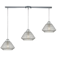 ELK 10424/3L Orbital 3 Light 36 inch Polished Chrome Pendant Ceiling Light
