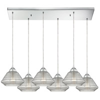 ELK 10424/6RC Orbital 6 Light 30 inch Polished Chrome Pendant Ceiling Light