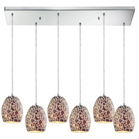 Orbital 6 Light 30 inch Polished Chrome Pendant Ceiling Light