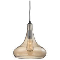 ELK Lighting Orbital 1 Light Pendant in Oil Rubbed Bronze 10432/1