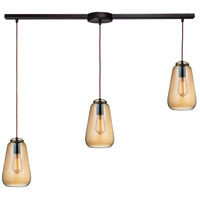 ELK 10433/3L Orbital 3 Light 36 inch Oil Rubbed Bronze Linear Pendant Ceiling Light in Linear with Recessed Adapter