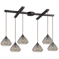 ELK 10434/6 Orbital 6 Light 33 inch Oil Rubbed Bronze Pendant Ceiling Light
