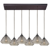 ELK 10434/6RC Orbital 6 Light 30 inch Oil Rubbed Bronze Pendant Ceiling Light