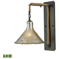 Hand Formed Glass LED 10 inch Oil Rubbed Bronze Wall Sconce Wall Light