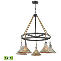 Hand Formed Glass LED 36 inch Oil Rubbed Bronze Chandelier Ceiling Light