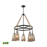 Hand Formed Glass LED 32 inch Oil Rubbed Bronze Chandelier Ceiling Light