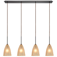 ELK 10439/4LP Calipsa 4 Light 46 inch Oil Rubbed Bronze Linear Pendant Ceiling Light in Incandescent