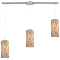 Capri 3 Light 36 inch Satin Nickel Linear Pendant Ceiling Light in Linear with Recessed Adapter