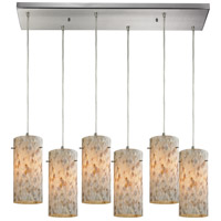 ELK 10442/6RC Capri 6 Light 9 inch Satin Nickel Pendant Ceiling Light in Rectangular Canopy