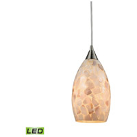 Capri LED 6 inch Satin Nickel Pendant Ceiling Light