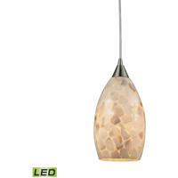 ELK 10443/1-LED Capri LED 6 inch Satin Nickel Pendant Ceiling Light
