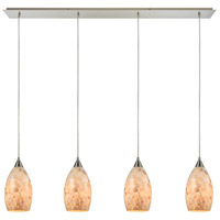 ELK 10443/4LP Capri 4 Light 46 inch Satin Nickel Linear Pendant Ceiling Light in Incandescent