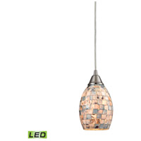 Capri LED 5 inch Satin Nickel Pendant Ceiling Light
