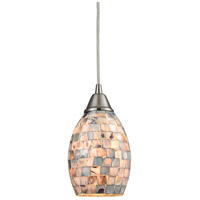 ELK 10444/1 Capri 1 Light 5 inch Satin Nickel Pendant Ceiling Light Incandescent