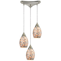 ELK 10444/3-LED Capri LED 11 inch Satin Nickel Pendant Ceiling Light