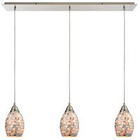 ELK 10444/3LP-LED Capri LED 36 inch Satin Nickel Pendant Ceiling Light