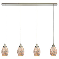 ELK 10444/4LP Capri 4 Light 46 inch Satin Nickel Linear Pendant Ceiling Light in Incandescent