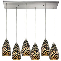 Predator 6 Light 30 inch Satin Nickel Pendant Ceiling Light