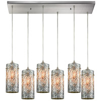 ELK 10447/6RC Capri 6 Light 32 inch Satin Nickel Pendant Ceiling Light in Rectangular Canopy