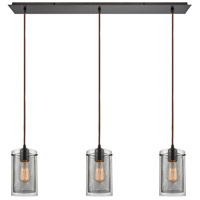 ELK 10448/3LP Brant 3 Light 36 inch Oil Rubbed Bronze Mini Pendant Ceiling Light in Linear, Linear