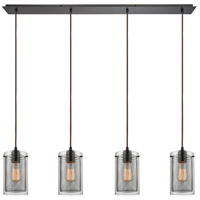 ELK 10448/4LP Brant 4 Light 46 inch Oil Rubbed Bronze Mini Pendant Ceiling Light in Linear, Linear
