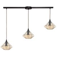 ELK 10450/3L Geometrics 3 Light 36 inch Oil Rubbed Bronze Pendant Ceiling Light