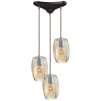 ELK 10451/3 Geometrics 3 Light 10 inch Oil Rubbed Bronze Pendant Ceiling Light