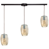 ELK 10451/3L Geometrics 3 Light 36 inch Oil Rubbed Bronze Pendant Ceiling Light