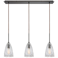 Signature 3 Light 36 inch Oil Rubbed Bronze Pendant Ceiling Light