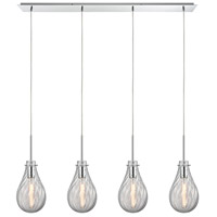 Cirrus 4 Light 46 inch Polished Chrome Pendant Ceiling Light