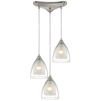 Layers 3 Light 10 inch Satin Nickel Pendant Ceiling Light