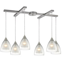 Layers 6 Light 33 inch Satin Nickel Pendant Ceiling Light