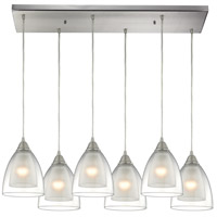 Layers 6 Light 30 inch Satin Nickel Pendant Ceiling Light