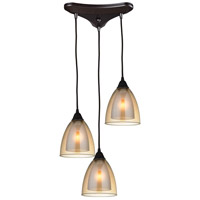 Layers 3 Light 10 inch Oil Rubbed Bronze Pendant Ceiling Light