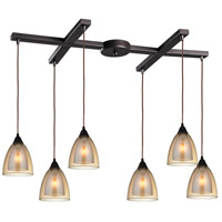 Layers 6 Light 33 inch Oil Rubbed Bronze Pendant Ceiling Light
