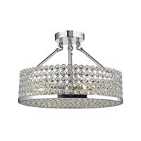Hammond 4 Light 16 inch Polished Chrome Semi Flush Ceiling Light