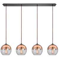 ELK 10490/4LP Revelo 4 Light 46 inch Oil Rubbed Bronze Linear Pendant Ceiling Light