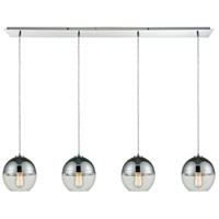 Revelo 4 Light 46 inch Polished Chrome Pendant Ceiling Light