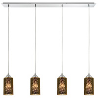 ELK 10505/4LP Illusions 4 Light 46 inch Polished Chrome Linear Pendant Ceiling Light in Incandescent