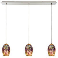 ELK 10506/3LP Illusions 3 Light 36 inch Satin Nickel Linear Pendant Ceiling Light in Incandescent