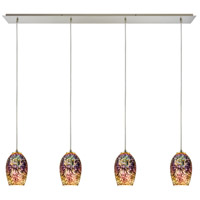 ELK 10506/4LP Illusions 4 Light 46 inch Satin Nickel Linear Pendant Ceiling Light in Incandescent