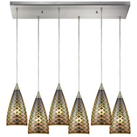 Illusions 6 Light 30 inch Satin Nickel Pendant Ceiling Light