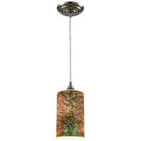 ELK 10508/1 Illusions 1 Light 5 inch Satin Nickel Pendant Ceiling Light