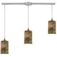 ELK 10508/3L Illusions 3 Light 36 inch Satin Nickel Linear Pendant Ceiling Light in Linear with Recessed Adapter