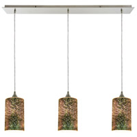 Illusions 3 Light 36 inch Satin Nickel Linear Pendant Ceiling Light, Linear Pan