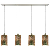 Illusions 4 Light 46 inch Satin Nickel Pendant Ceiling Light, Linear Pan