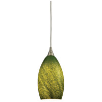 ELK 10510/1GRS Earth 1 Light 5 inch Satin Nickel Pendant Ceiling Light in Sunlit Grass Green, Incandescent